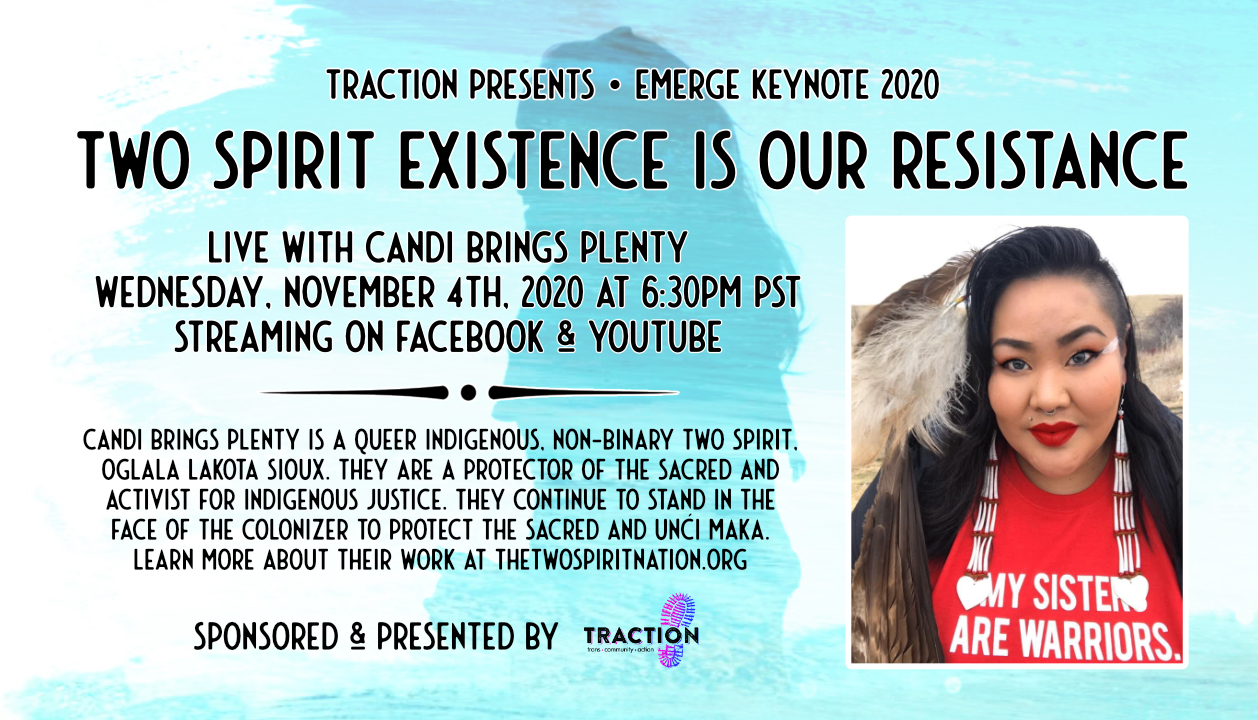 EMERGE 2020: Two Spirit Existence is Our Resistance