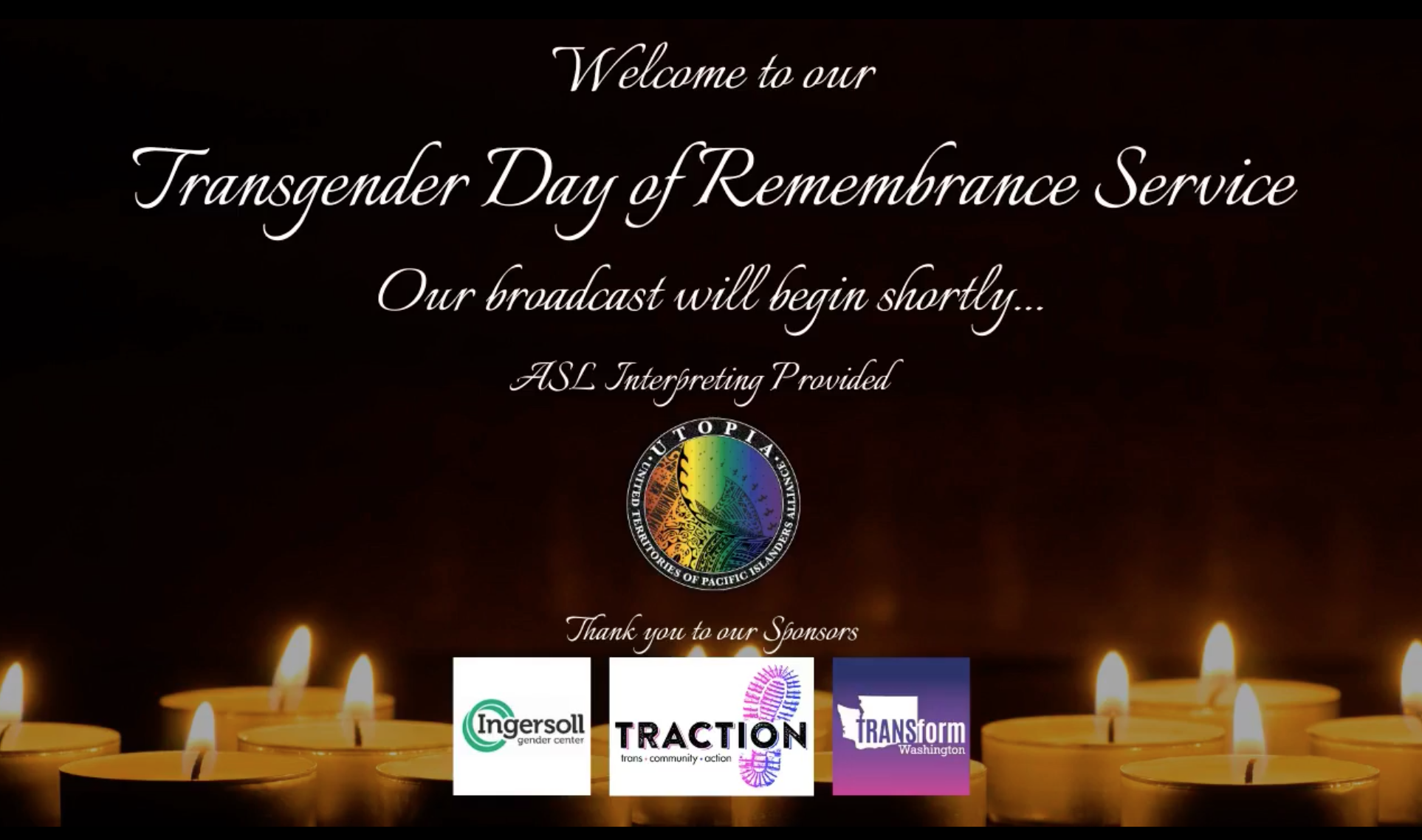 Transgender Day of Remembrance 2020 with UTOPIA
