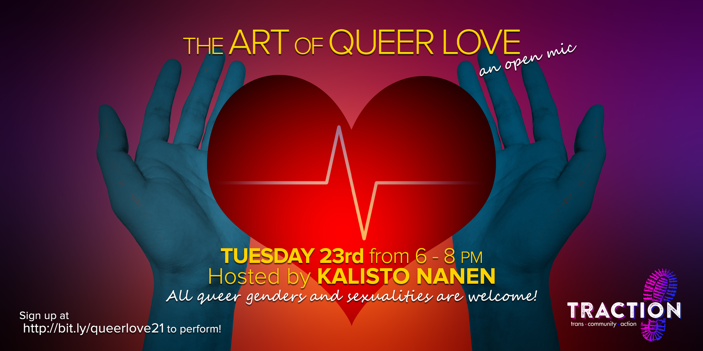The Art of Queer Love: a trans & non-binary open mic