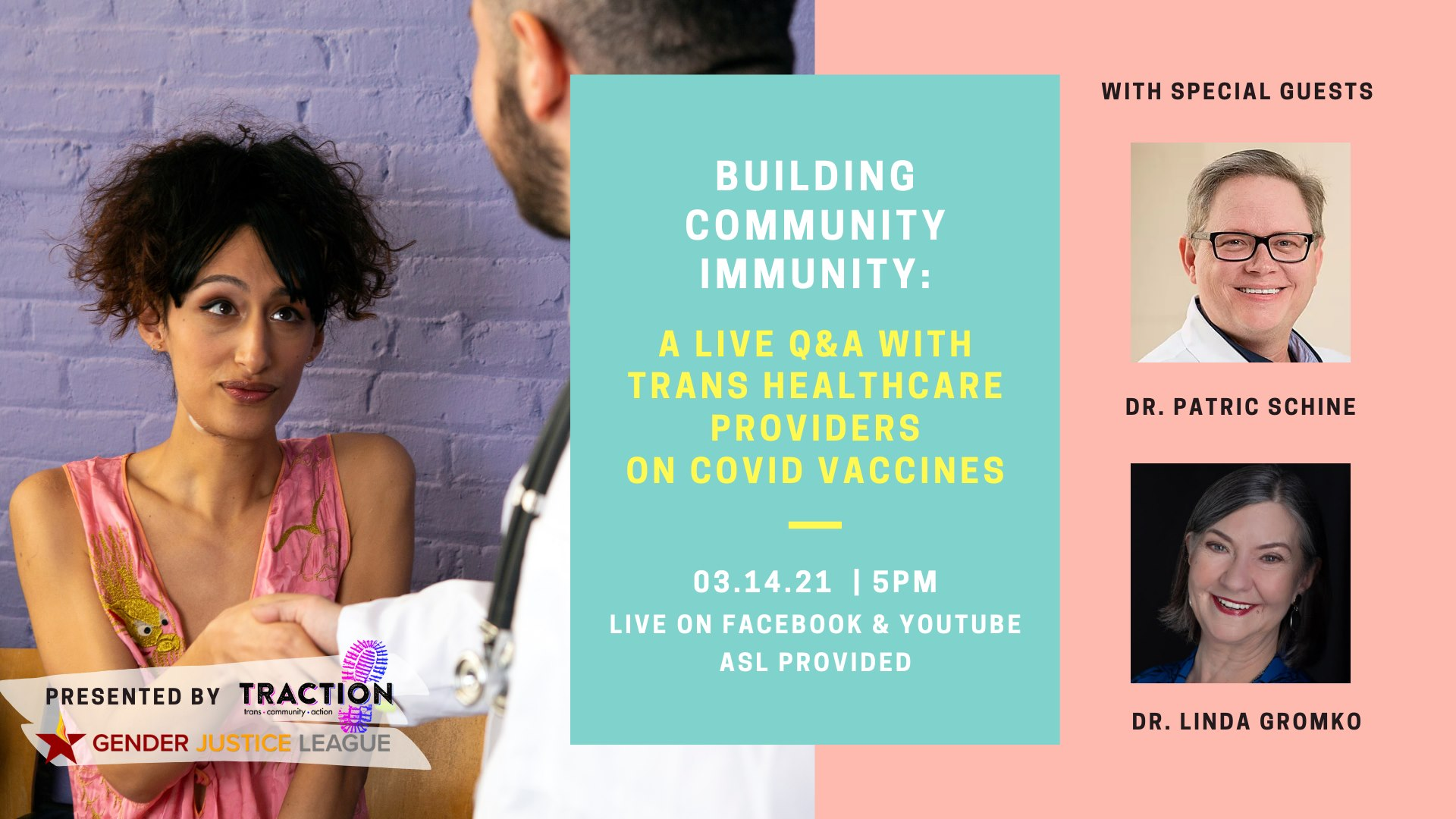 Building Community Immunity: A Live Q&A with Trans Healthcare Providers on COVID Vaccines